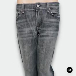 7 FOR ALL MANKIND DAMEN JEANS IN SCHWARZ GRÖßE : 31