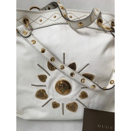 "GUCCI ""BABOUSKA BAG"" DAMEN TASCHE SHOPPER IN WEIß"
